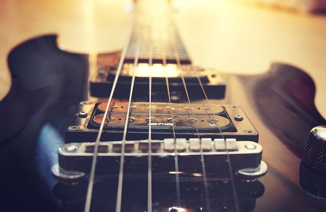 Guitar bridge and pickups