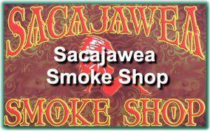 sacajawea smoke shop logo