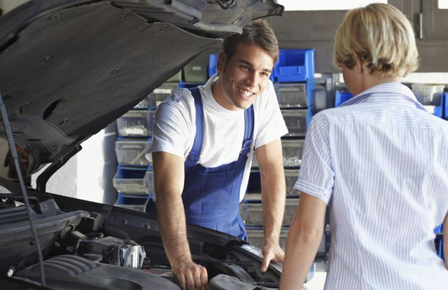Auto repair discussion at our tire store in Shortsville, NY