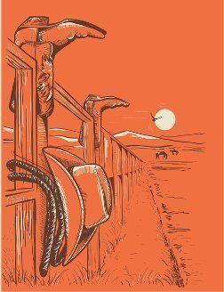 Disegno dello steccato di un ranch