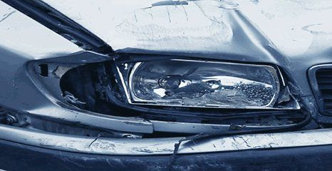 damaged car light