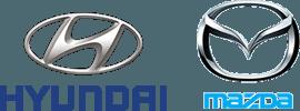 HYUNDAI MAZDA logos