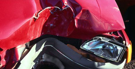 damaged car bumper