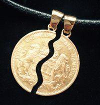 Geteilte Goldmünze