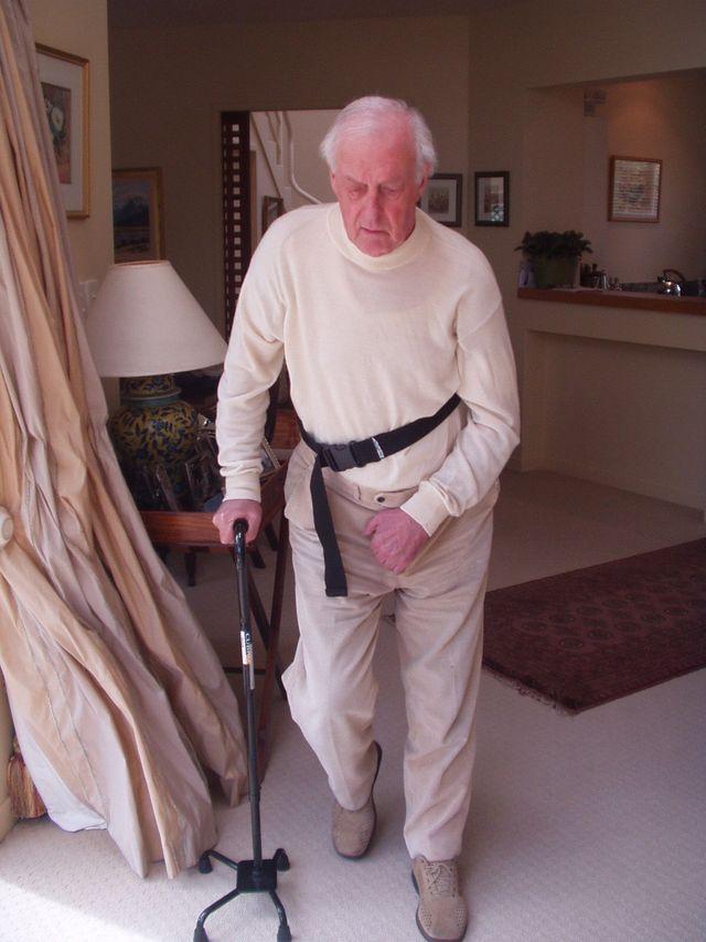 An elderly man at the Rehabilitation center