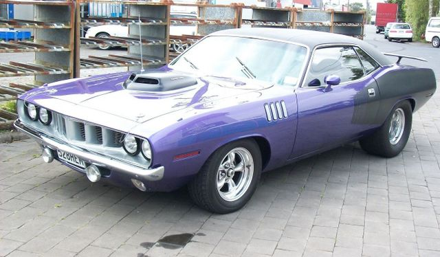 A purple car after mechanical repairs in Auckland