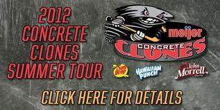 2012 Concrete Clones Summer Tour flyer