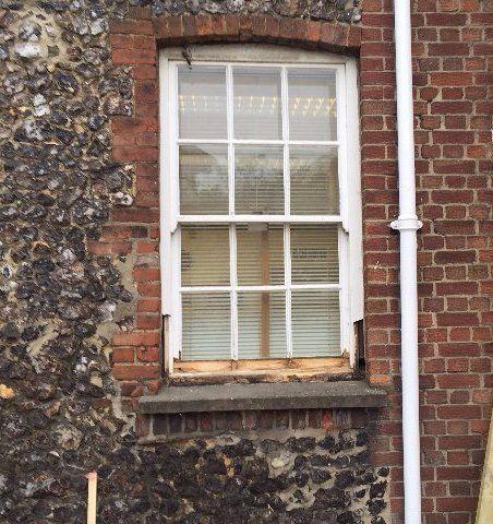 white framed windows