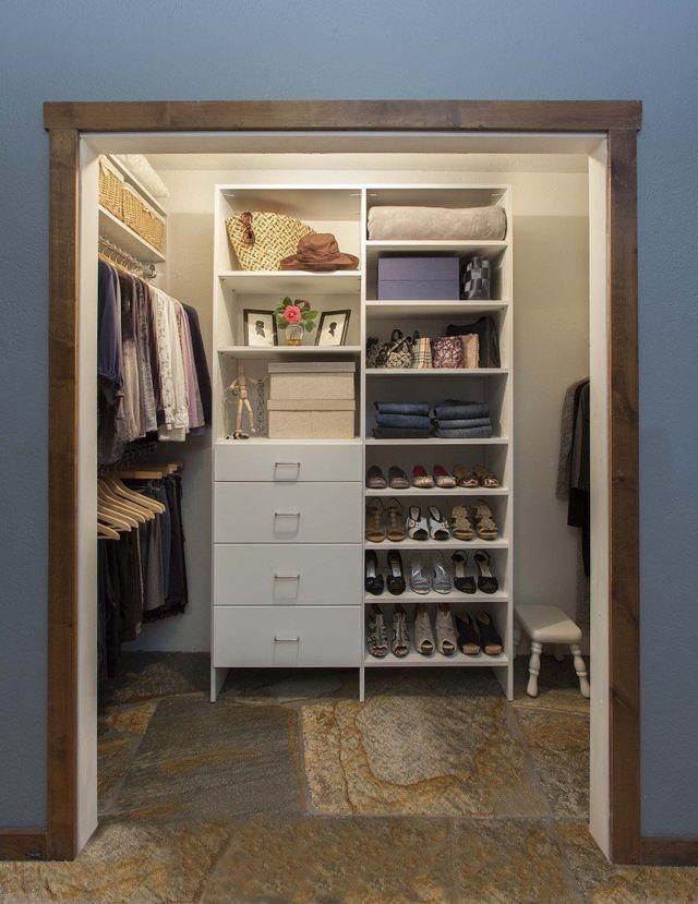White Modern Reach In Closet