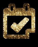 golden calendar icon