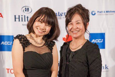 Two ladies at the Ball in Nagoya