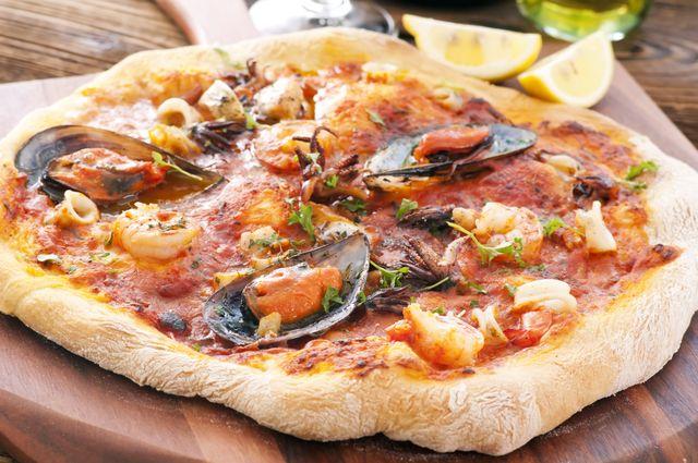 Pizza alle cozze del Panificio Melfi a Morrone Del Sannio