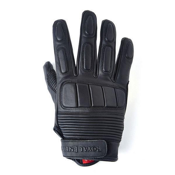 Royal Enfield GT Short Leather Glove Black