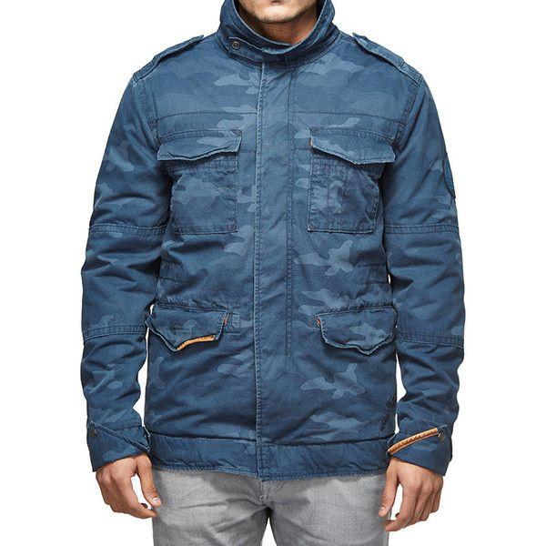 Royal Enfield Classic Field Camo Jacket Blue