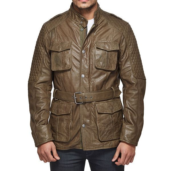 Royal Enfield Stormrider Field Leather Jacket Brown
