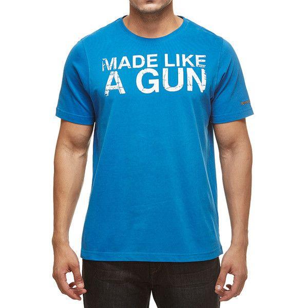 Royal Enfield Gun T-Shirt With Vintage Logo Blue