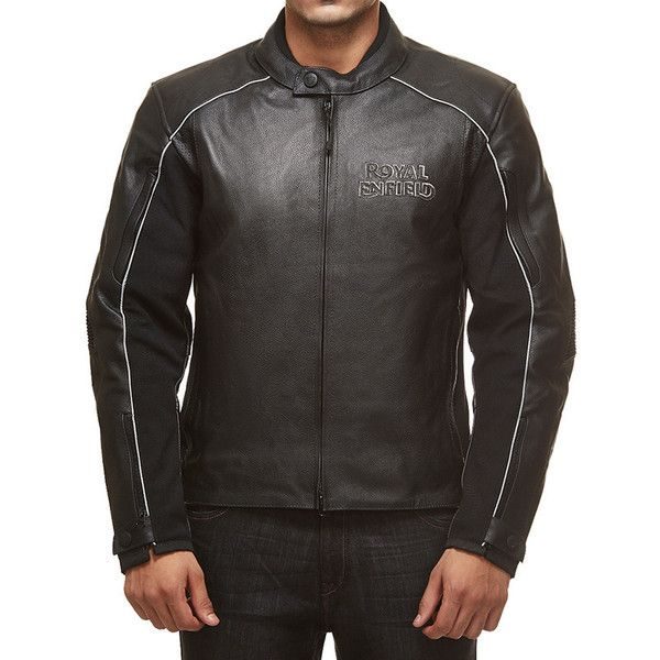 Royal Enfield Leather Riding Jacket Black