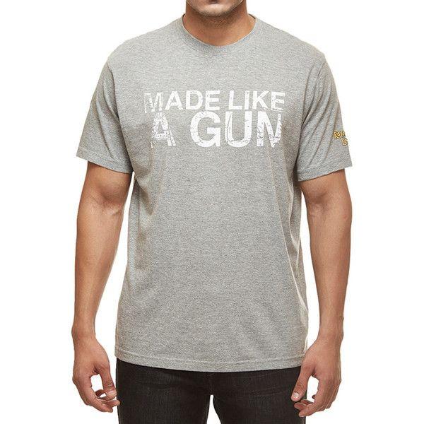 Royal Enfield Gun T-Shirt With Vintage Logo Grey