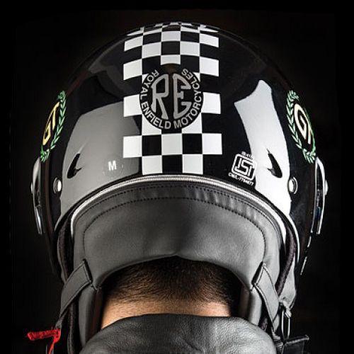 Royal Enfield Continental GT Helmet Chequered Gloss Black