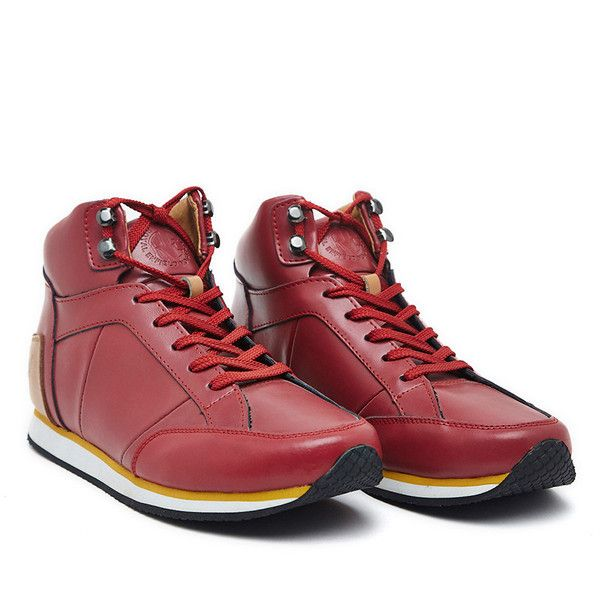 yal Enfield Mid Top Shoes Red