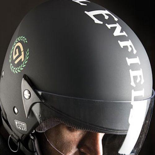 yal Enfield Continental GT Helmet Matt Black