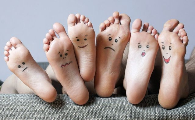 smileys on the foot