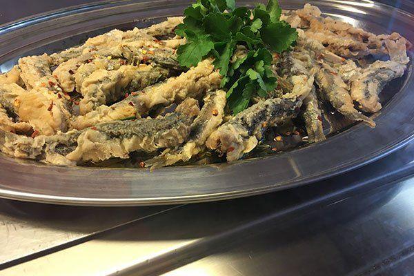 Piatto di pesce da frittura