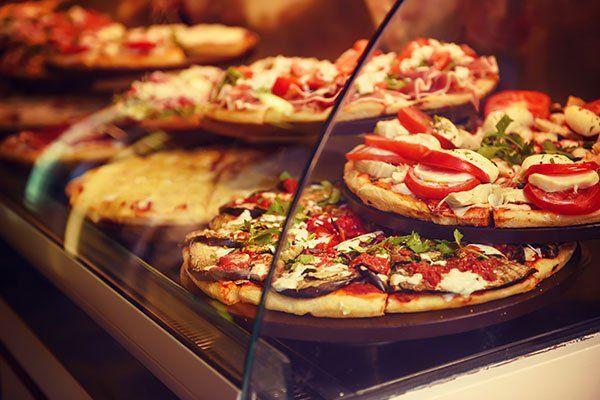 Varieta di pizza al taglio
