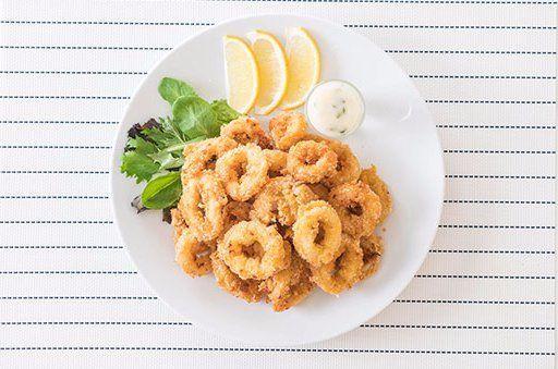 Piatto di calamari alla romana