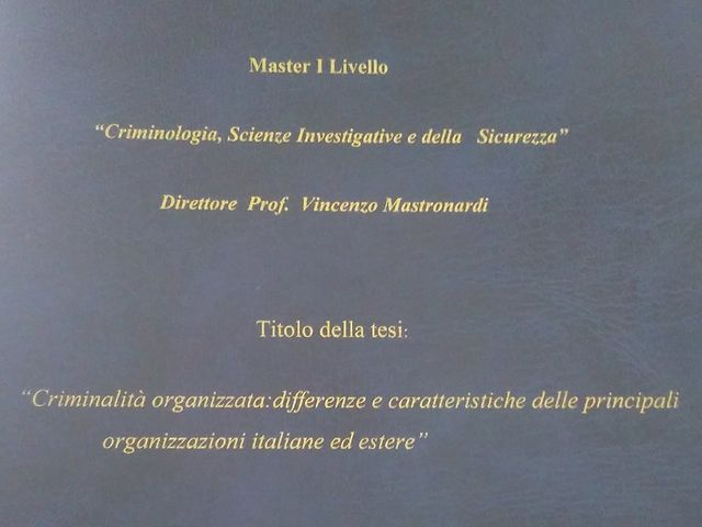 Diploma certificato di criminologia