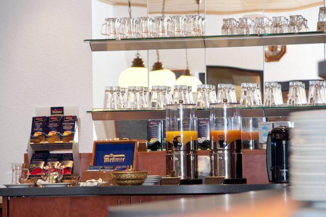 Anischt auf das Frühstücksbuffet im Hotel Hansa Offenbach