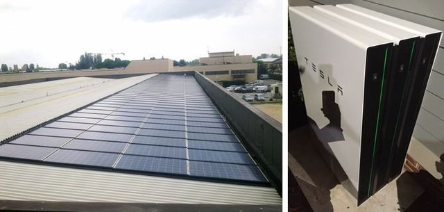 esempio di impianto fotovoltaico industriale