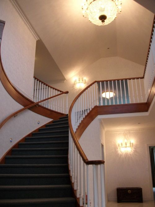 Staircase in the newly constructed home