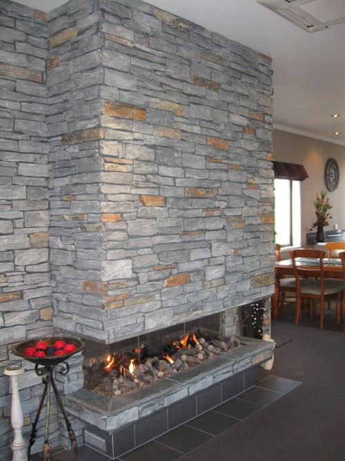 Indoor fireplace after renovation