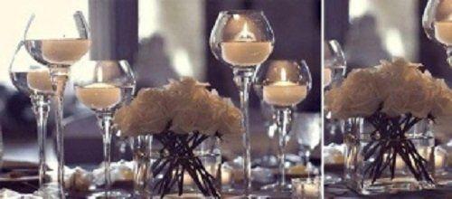 tavolo a lume di candela