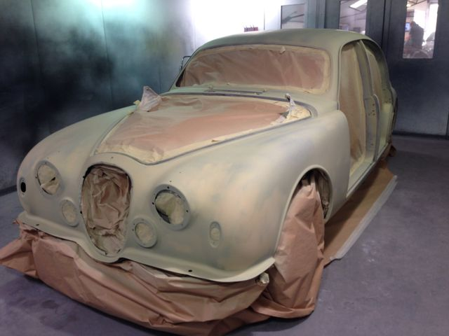 old damaged car