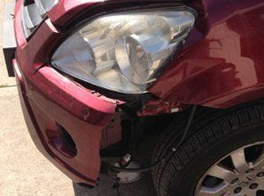 left headlight damaged