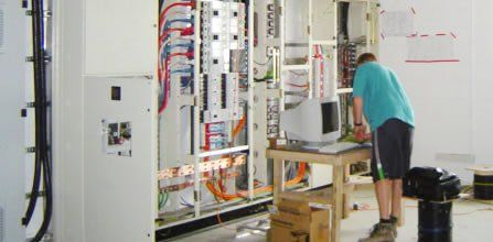 Expert doing inspection for electrical system