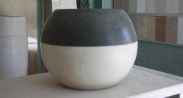 vaso in marmo, complementi d'arredo in marmo, complemti d'arredo in granito