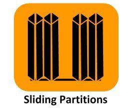 Sliding partitions