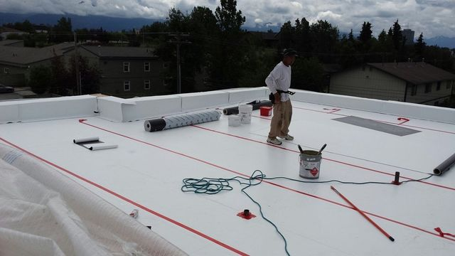 Roof tiling work done by the professional roofing contractors of Anchorage, AK