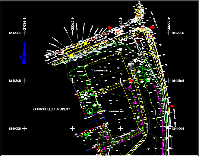 topographical survey cad model