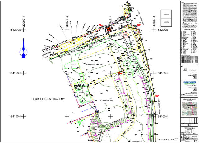 topographical survey paper plan