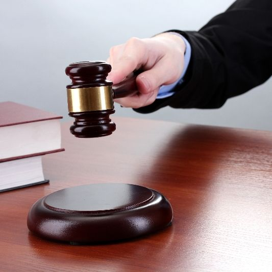 A gavel as a symbol for attorneys