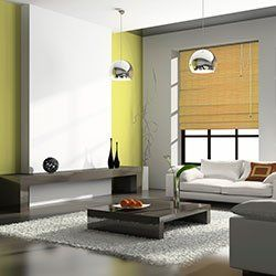 grey, white and green themed living room