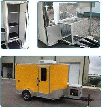 pet grooming custom color trailer