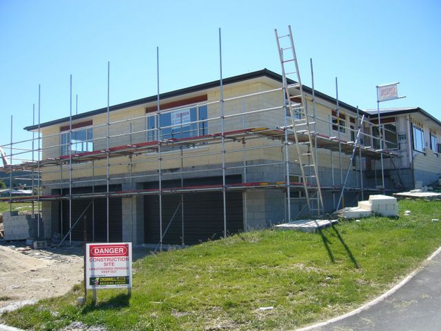 Scaffolding erected on a work site