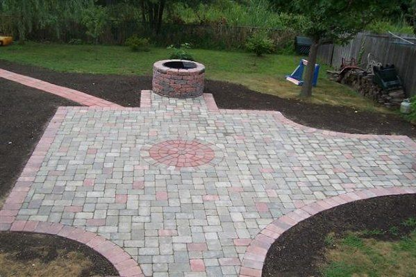 Paved Patio Area   Paver Installation Clearing Land To Begin Patio Remodel    Residential Masonry In