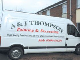 Painters - Exeter, Somerset - A & J Thompson Painters and Decorators Ltd. - Van