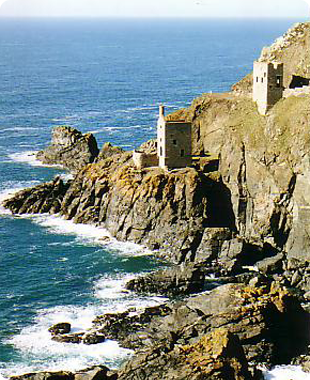 Old tin mine on the Cornish coast